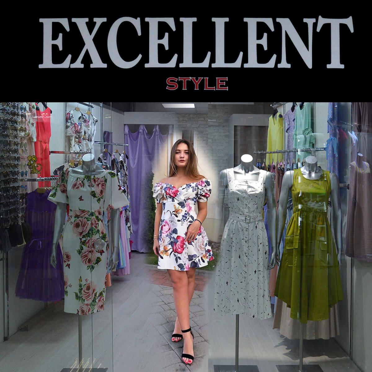 Магазин  «EXCELLENT» в новом павильоне c новой летней коллекцией платьев в Торговом Центре «Немига 3»